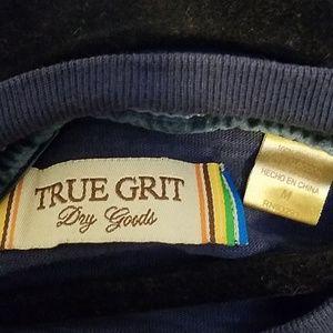 True Grit Shirts - TRUE GRIT Slub Cotton Indigo Tee, Medium